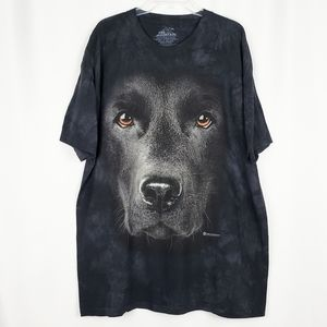 THE MOUNTAIN Black Lab Face graphic tee